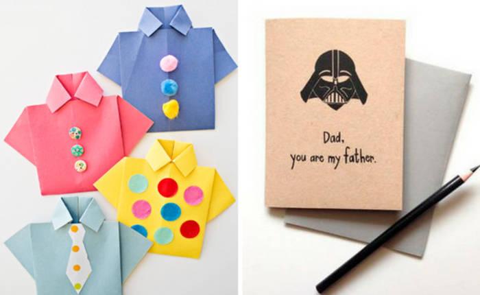 Как сделать необычную открытку папе на день рождения