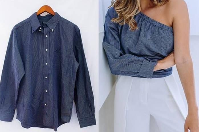 5 летних блуз и платьев из старой мужской рубашки