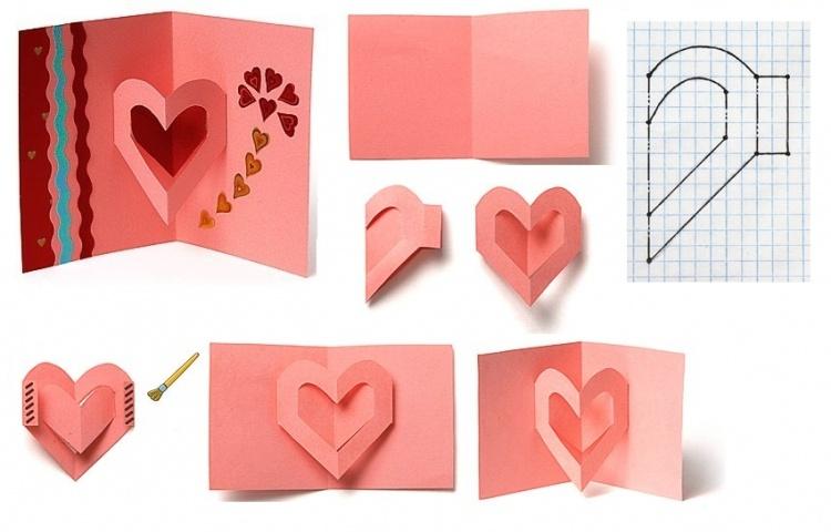 сердце открытка пошагово преимуществами обладает шуба