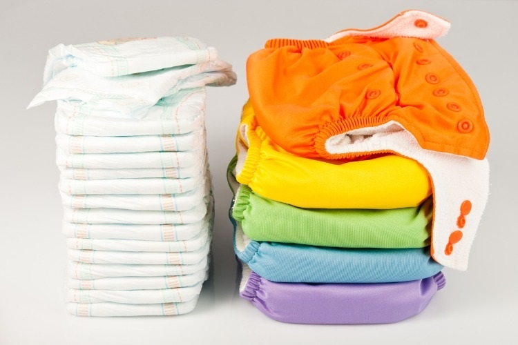 eco-friendly-diapers-and-pampers-picture-id490525609
