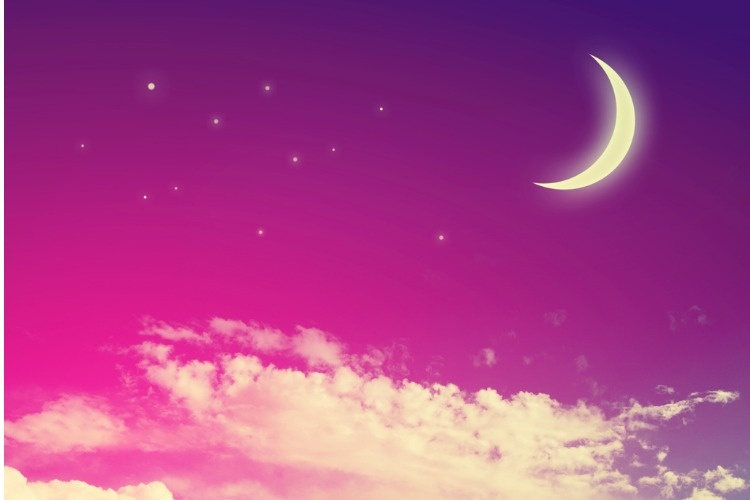 night-sky-with-moon-and-stars-picture-id649402036