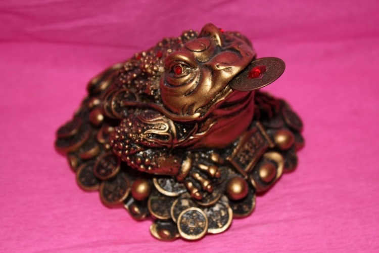 feng-shui-money-frog-on-pink-picture-id519106867