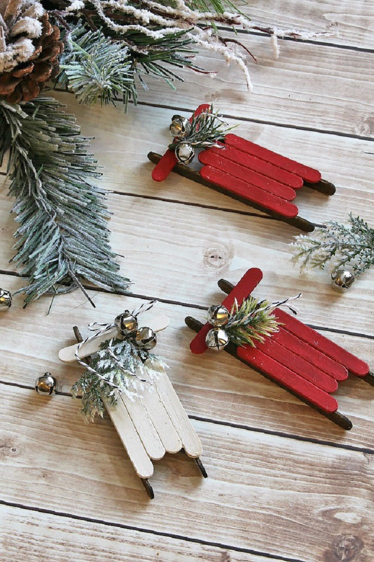 handmade-christmas-ornaments-popsicle-stick-sleds