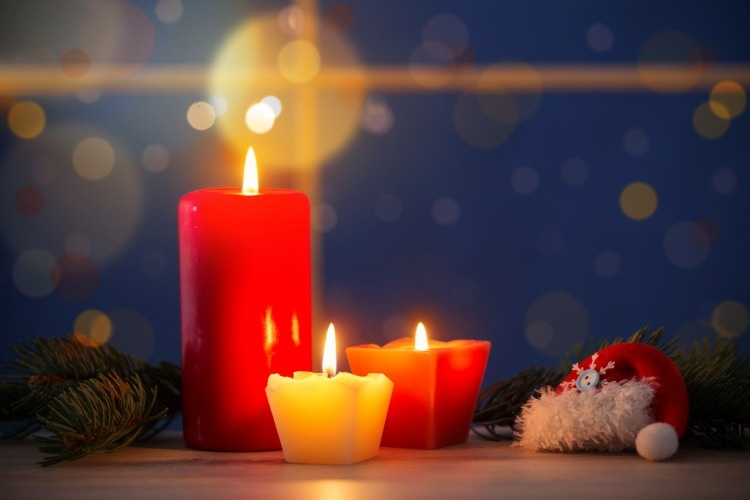 christmas-candles-on-background-night-window-picture-id879441666