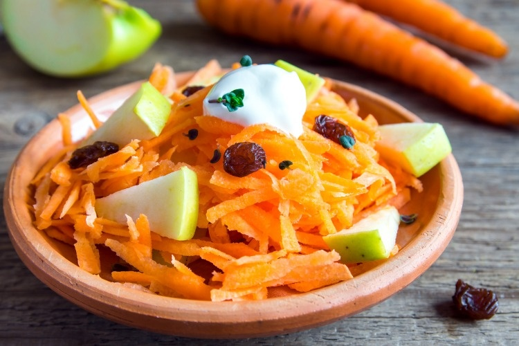 carrot-and-apple-salad-with-raisin-picture-id523820470