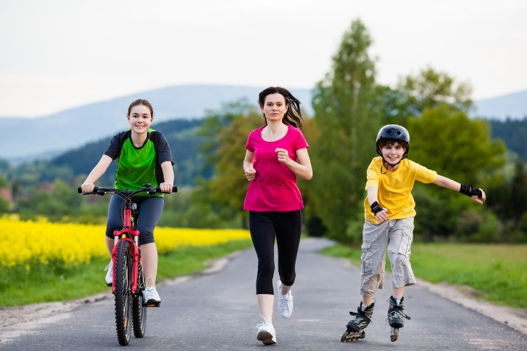 active-family-exercising-outdoor-picture-id151936915