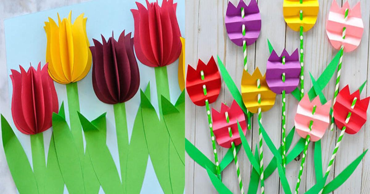 Нарисовать, открытка с тюльпанами своими руками для детей